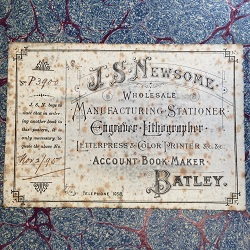 front cover of an old handwritten stock ledger